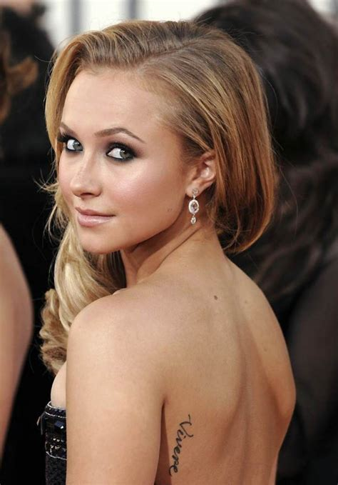 hayden panettiere tattoo hayden panettiere quote on back pictures fashion