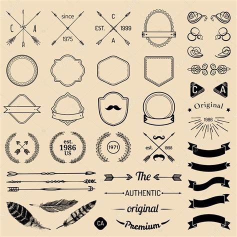 hipster design elements vector vintage hipster logo elements stock vector 169 vladayoung