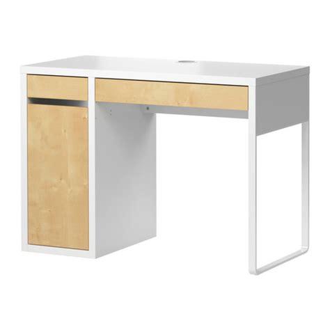 MICKE Desk white/birch effect IKEA
