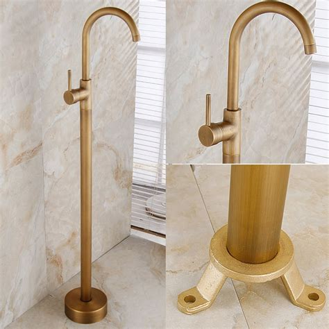old bathtub faucets brewst antique brass one lever freestanding tub faucet