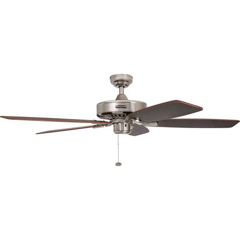 ceiling fans nickel finish honeywell sutton ceiling fan brushed nickel finish 52
