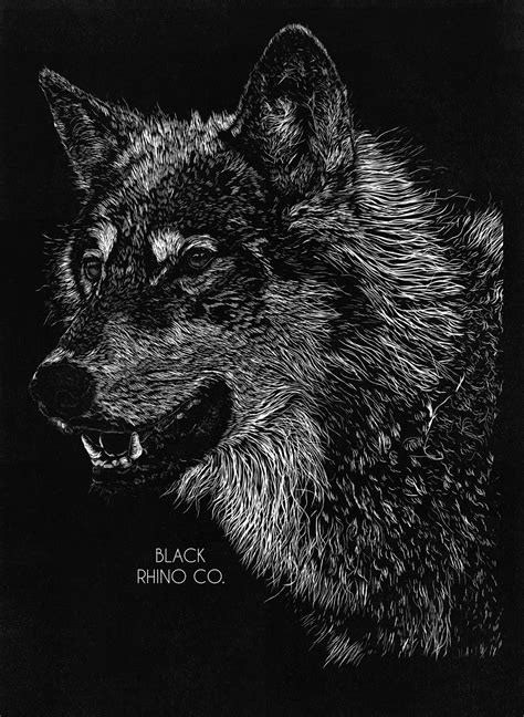 Final Design Wolf Black Rhino Co T Shirt By Black Wolf Designs