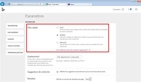 Safe Search Parametrer Safesearch