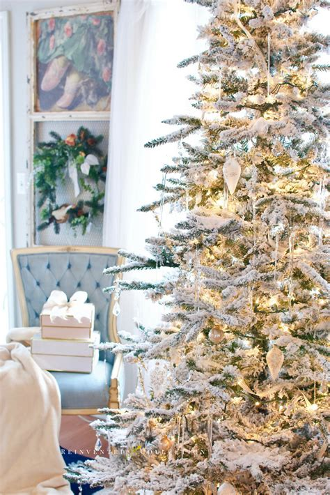 blue and gold home decor a flocked tree gold and white