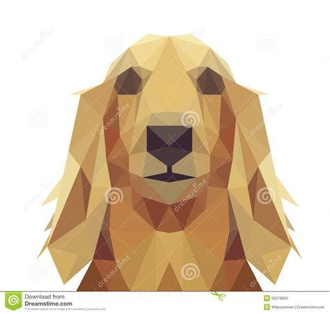 puppies by design low poly geometric design stock vector image 52579855