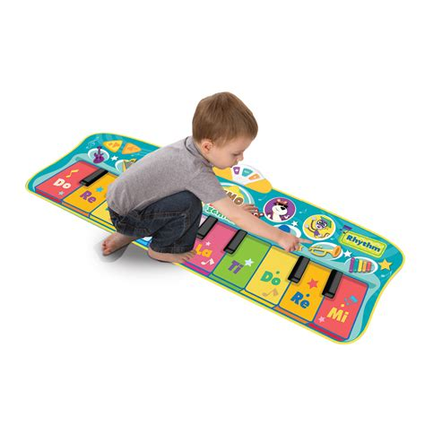 piano mat with lights baby genius step to step mat toys