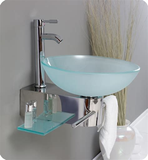 18 fresca cristallino fvn1012 modern glass bathroom vanity w frosted vessel sink bathroom