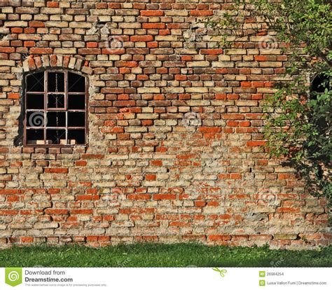 industrial building brickwall and window stock images