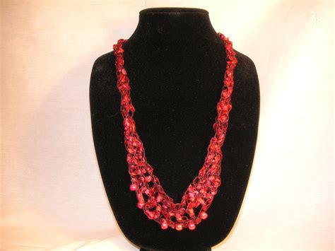 pattern yarn necklace crochet ladder yarn necklace pattern
