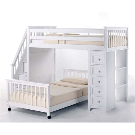 simply bunk beds school house stair loft with chest end white loft beds
