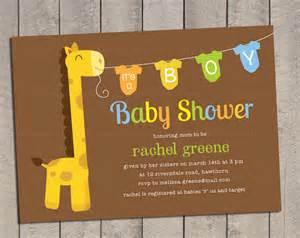 giraffe baby shower invitations template 11 onesie invitation templates free sle exle