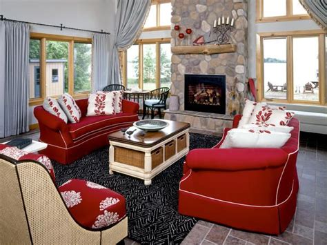 red furniture ideas living room red sofa decorating ideas red couch