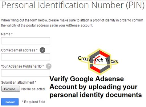 adsense verification without pin how to verify google adsense account without pin code