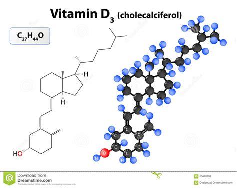 vitamin d l molek 252 l cholecalciferol oder vitamin d3 vektor abbildung