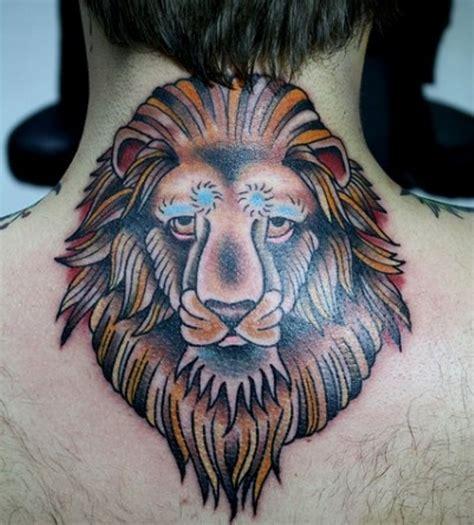 neck tattoo lion 33 impressive lion neck tattoos