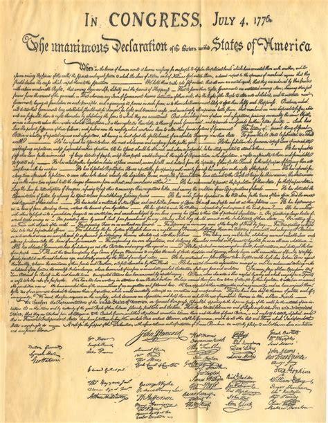 testo america dichiarazione di indipendenza degli stati uniti d america