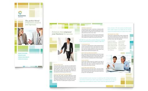 Business Solutions Consultant Newsletter Template Design Consulting Brochure Template