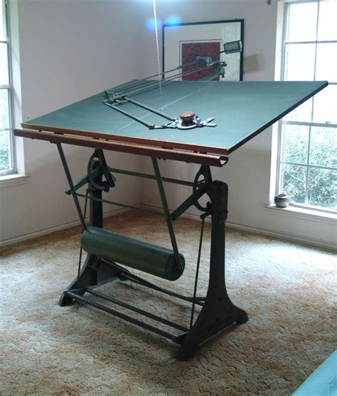 Kuhlmann Drafting Table Antique Franz Kuhlmann Drafting Table And Machine Industrial Furniture Pinterest