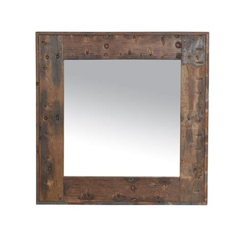 boat accessories victoria bc axel square mirror genuine reclaimed vintage boat wood