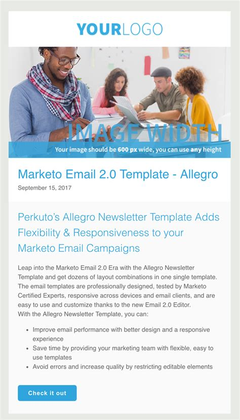A Marketo Email 2 0 Template From Perkuto Marketo Email Templates 2