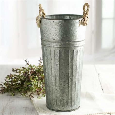 galvanized flower market baskets buckets