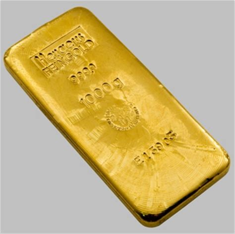 heraeus 1 kg gold bars
