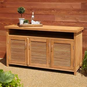 outdoor buffet sideboard 60 quot rory teak outdoor buffet outdoor furniture outdoor