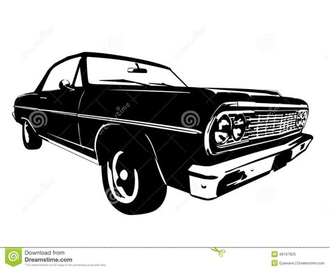 vintage muscle vintage american muscle car vector silhouette stock vector