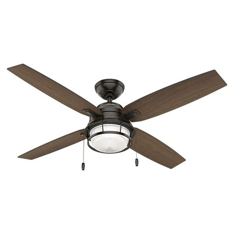52 Outdoor Ceiling Fan With Light Ocala 52 In Led Outdoor Noble Bronze Ceiling Fan With Light 59214 The Home Depot