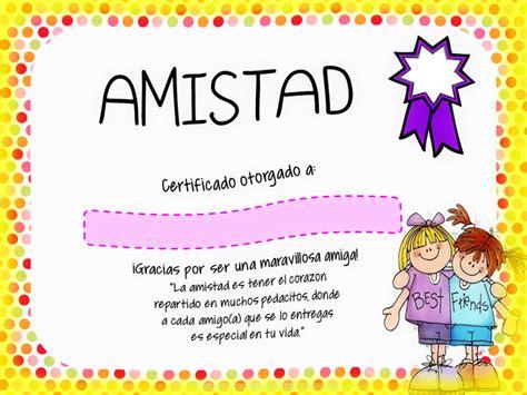 imagenes del amor y la amistad infantiles certificado en tarjetas de amistad para imprimir