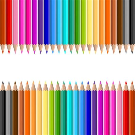 color pencil colour pencils background vector free