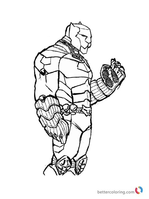 marvel movie coloring pages black panther coloring pages superhero of marvel free