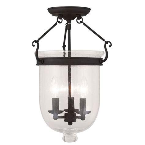 Black Semi Flush Mount Ceiling Light Filament Design Providence 3 Light Black Incandescent Ceiling Semi Flush Mount Cli Men034815