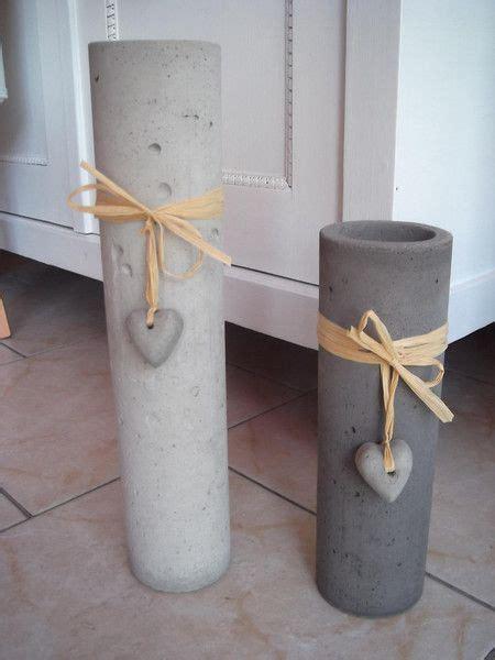 kerzenhalter shabby chic beton kerzenhalter anthrazit 235cm handarbeit beton