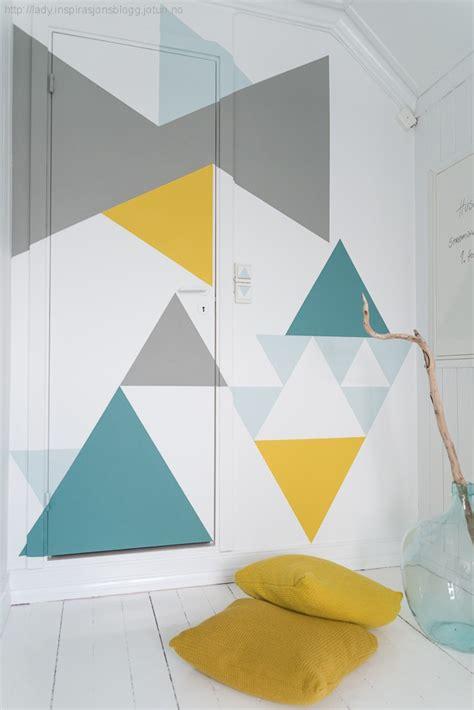 geometric pattern diy geometric wall mural decor hacks