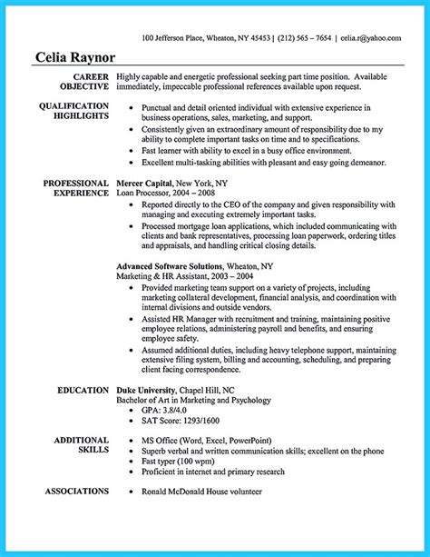 sle to make administrative assistant resume