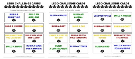 printable challenge 24 cards magnetic lego travel tray free printable lego challenge cards