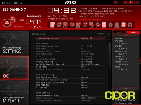Reset Bios Z97 Gaming   i7 4790k not showing correct oc in cpu z overclocking