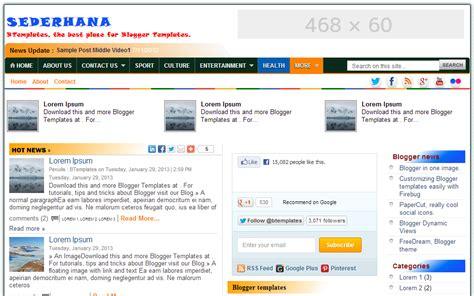 free blog template premium
