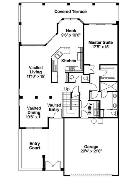 zero lot house plans zero lot contemporary 72028da 1st floor master suite