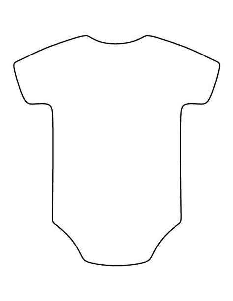 printable onesie template onesie pattern use the printable outline for crafts