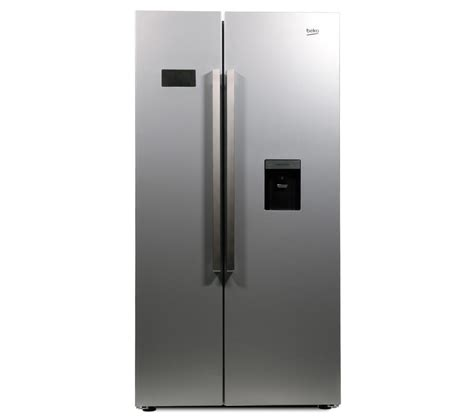 American Style Fridge Freezer No Plumbing Required by Beko Asd241s American Style Fridge Freezer Silver White