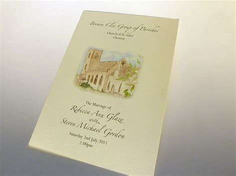 wedding order of service cards template order of service