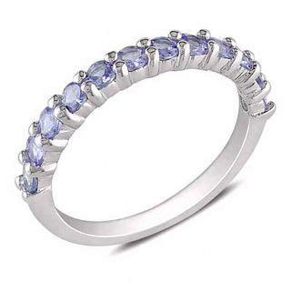 tanzanite band in sterling silver gemstone rings rings