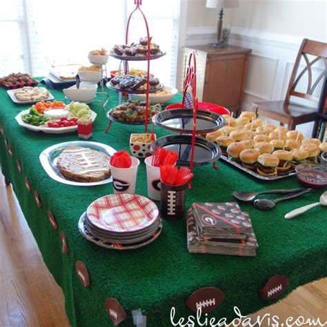 Table Food For Babies by Uga Football Baby Shower Habitual Rearranger