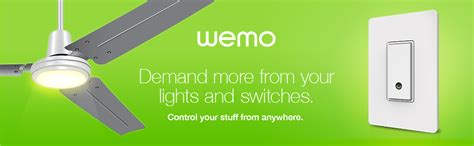Ceiling Fan That Works With Alexa Amazon Com Wemo Light Switch Wi Fi Enabled Works With