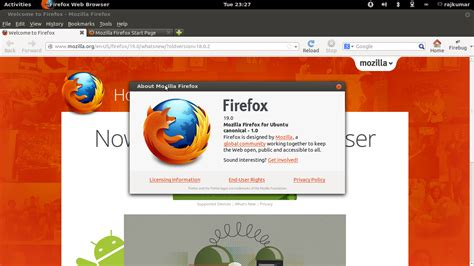 firefox themes linux mint firefox 19 released with built in pdf support install it