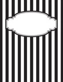 black and white binder cover templates free printable black and white striped binder cover