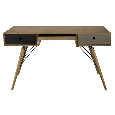 Mango Wood Desk by Solid Mango Wood Vintage Desk W 137cm Melting Maisons Du