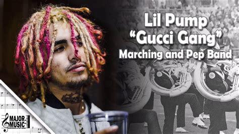 lil pump ukulele chords quot gucci gang quot lil pump marching pep band sheet music